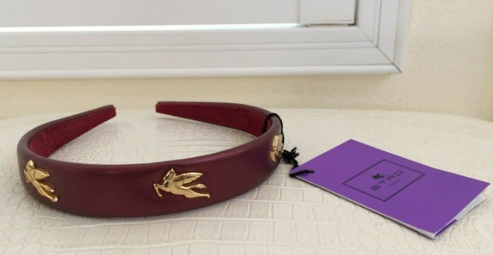 ETRO Milano LEATHER Narrow Head HairBand
