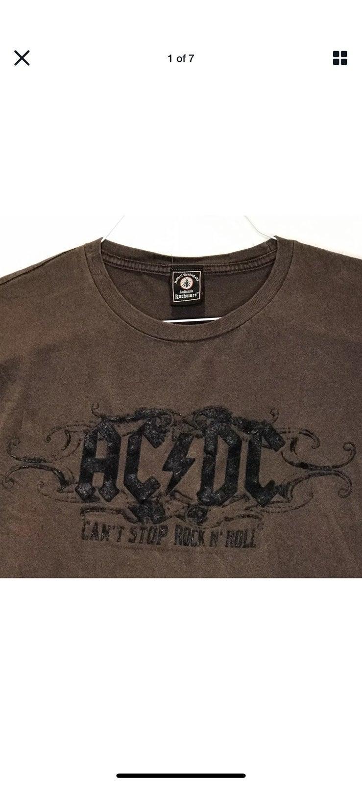 Anthill Trading XL Brown T-Shirt AC/DC