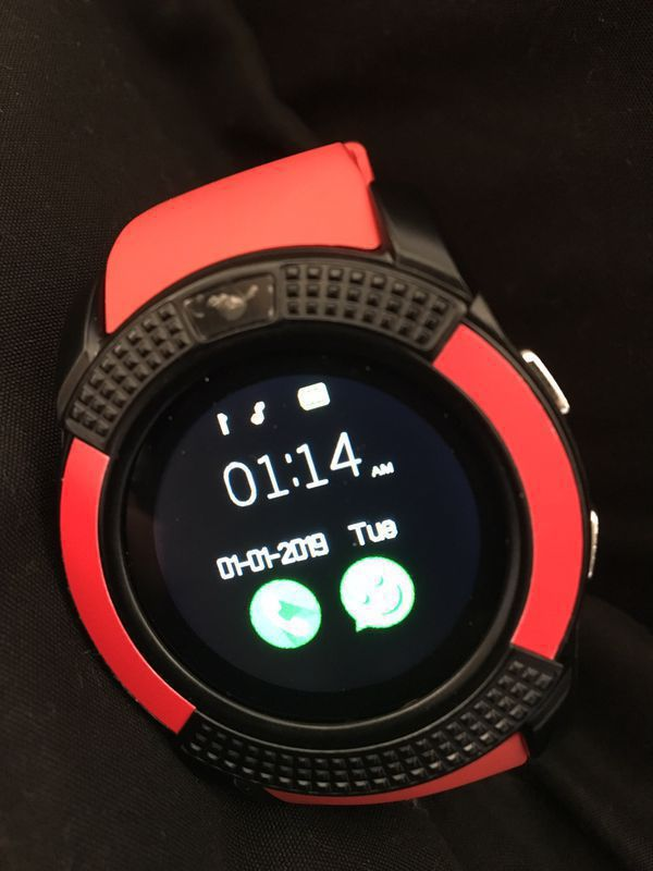 red smartwatch bluetooth or sim w/cam