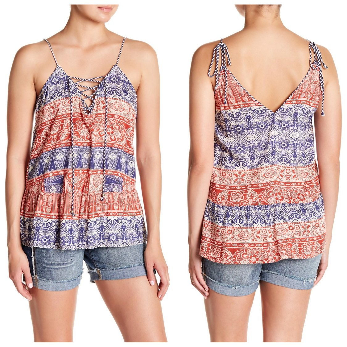 NWT Jessica Simpson Lace Up Tank Small