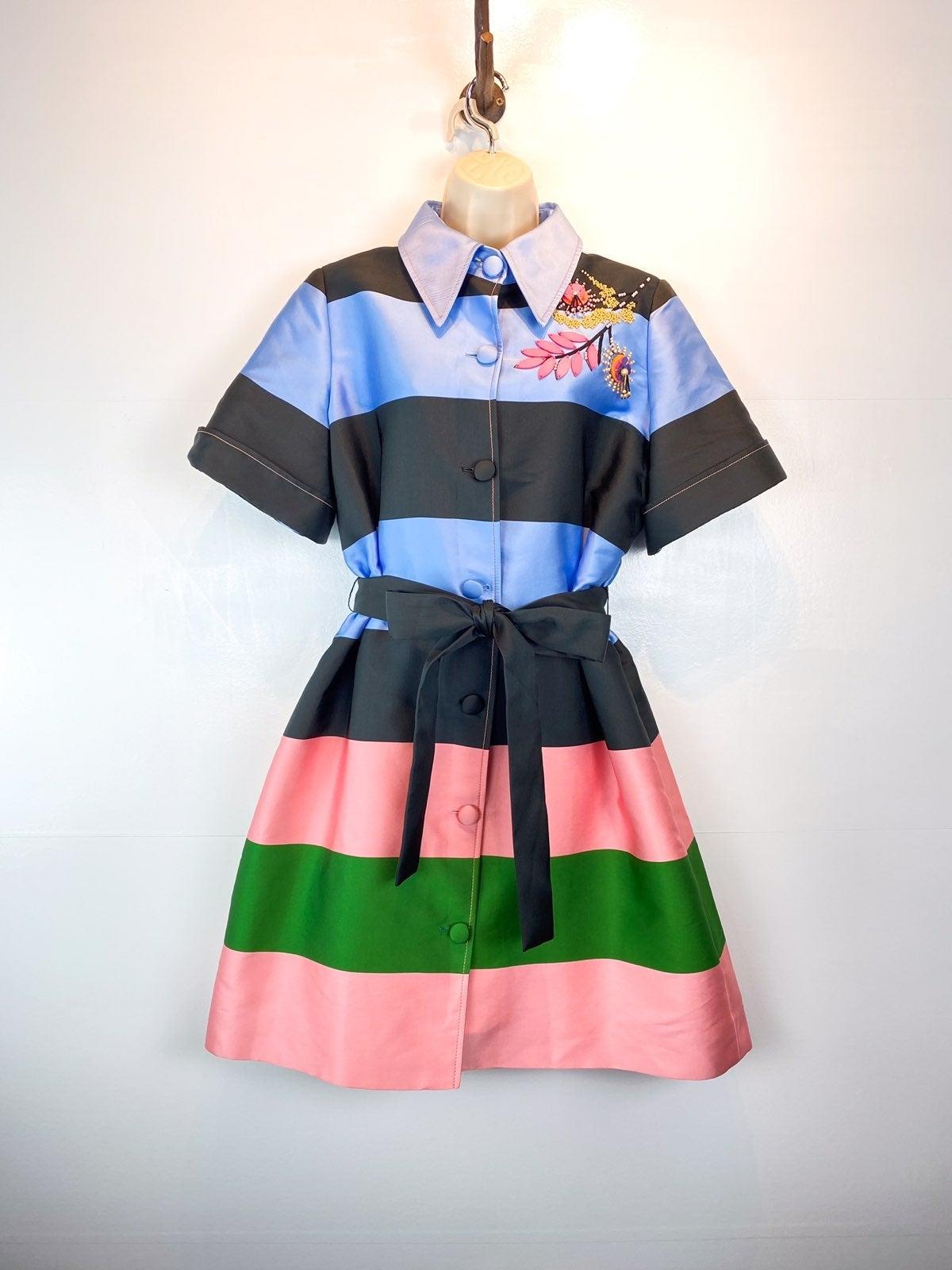 Carolina Herrera belted stripe dress 12