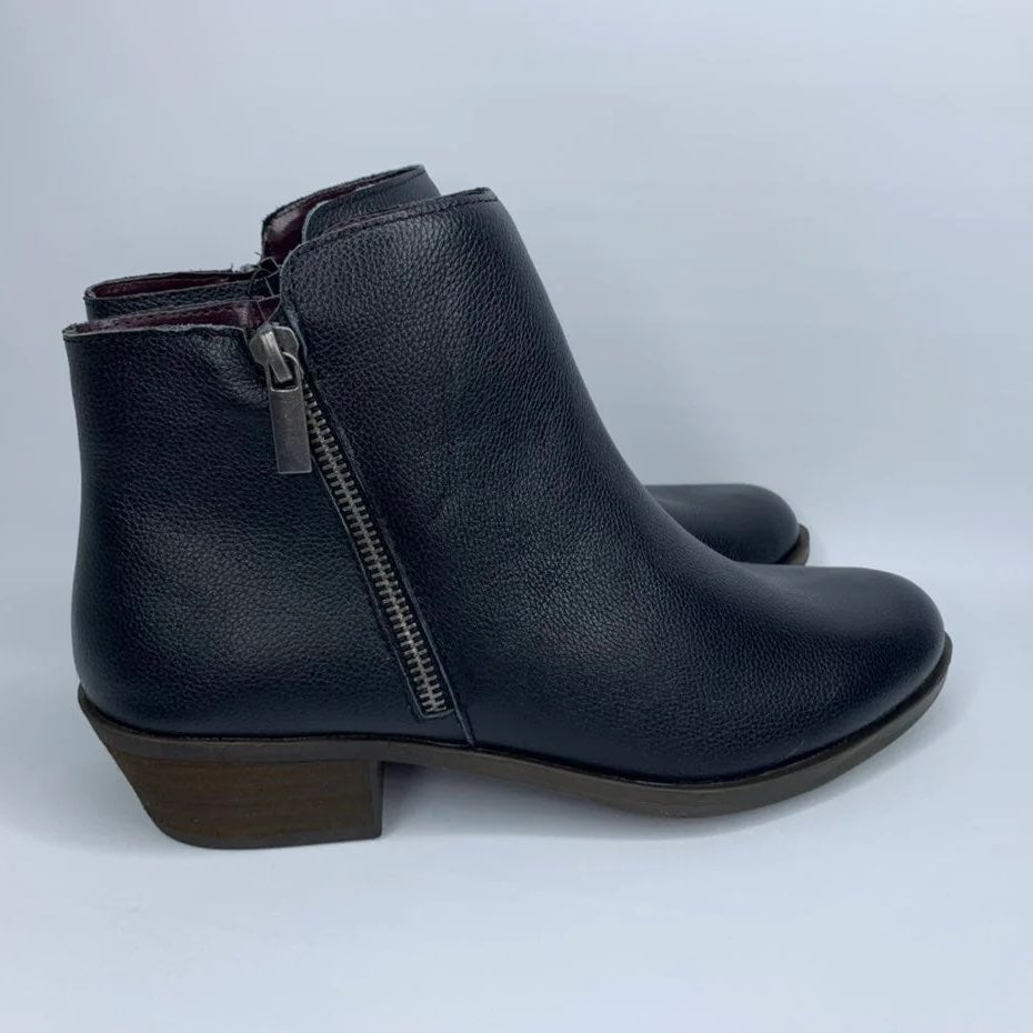 Kensie Short Leather Ankle Boots