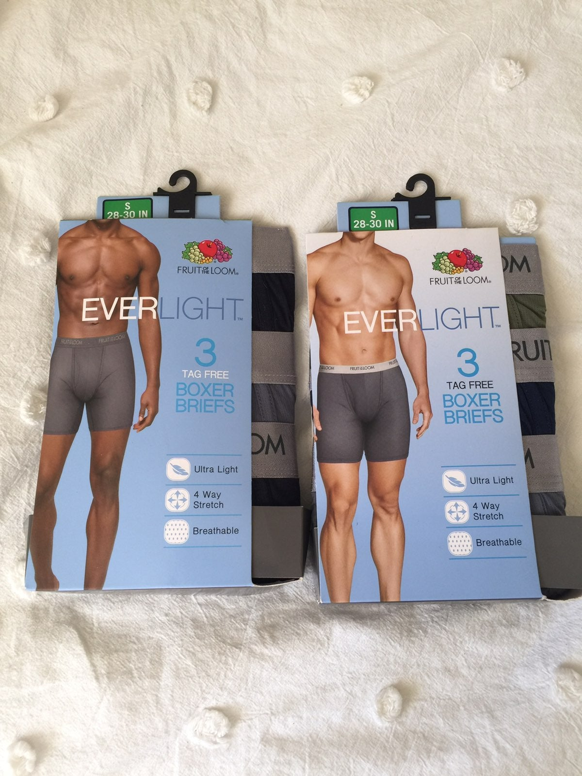 NIP 2 pkgs Everlight Boxer Briefs Sz S