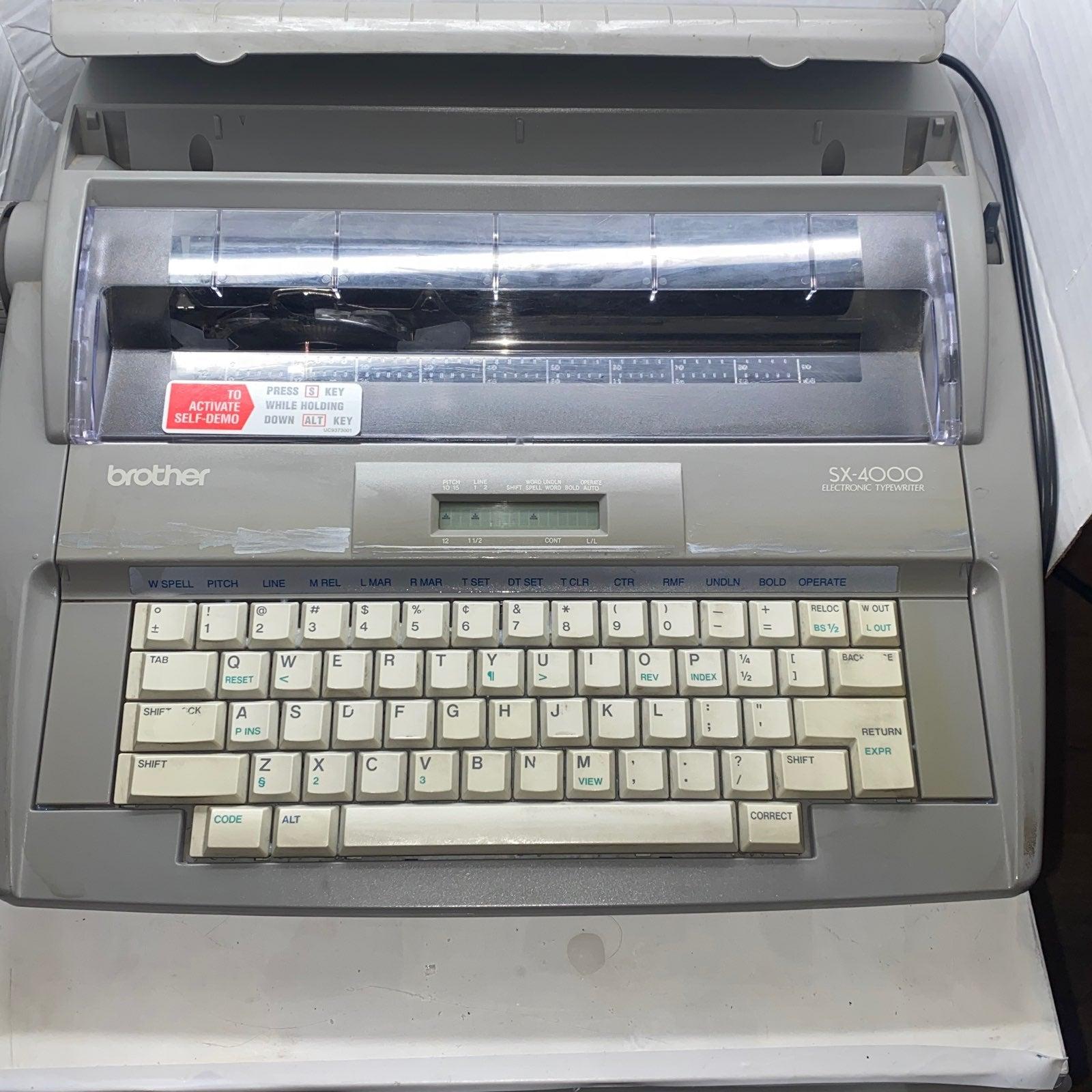 Writers! Brother SX-4000 Elec.Typewriter
