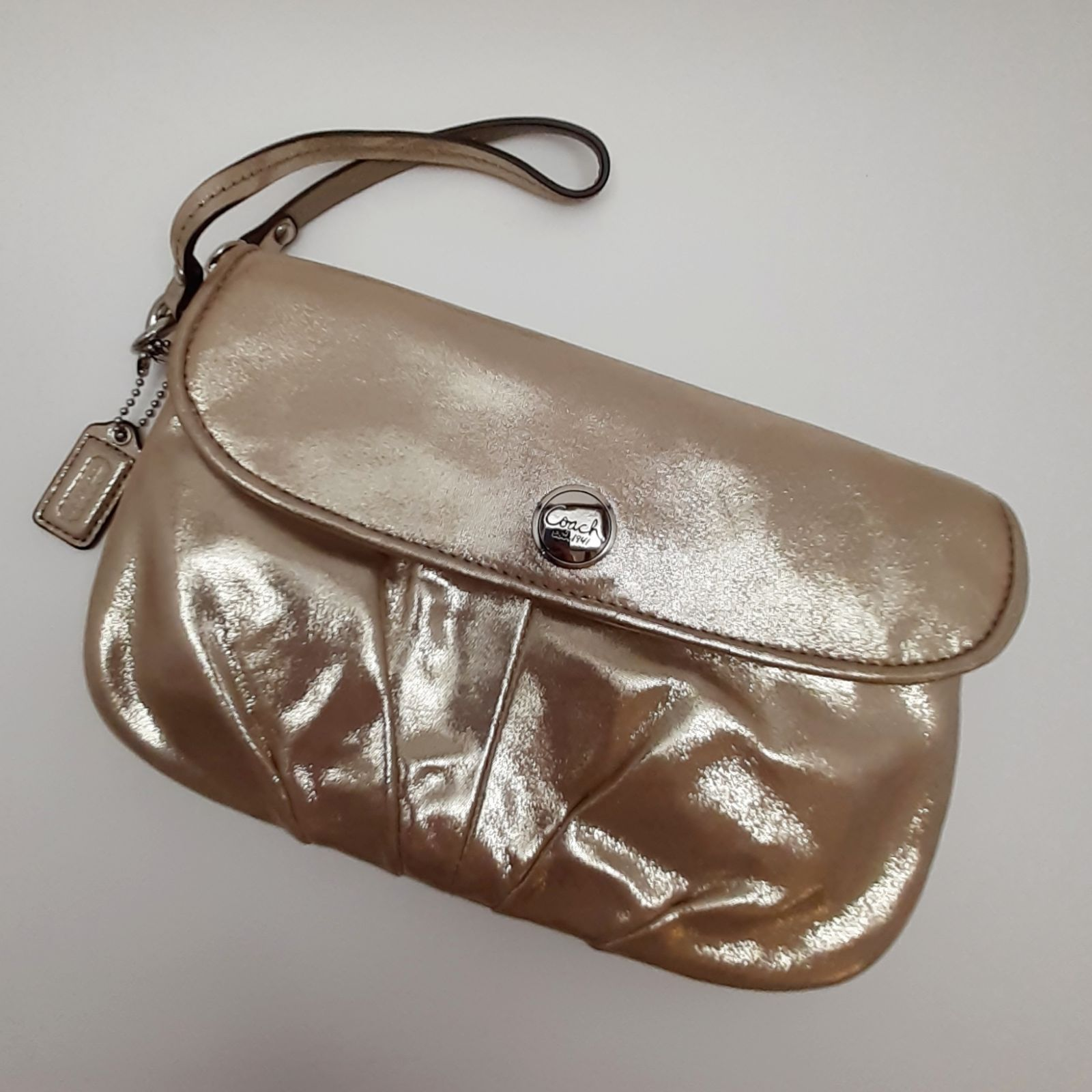 Coach Metallic Wristlet/Clutch Bag