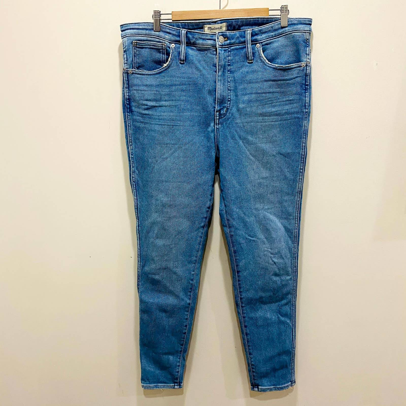 Madewell High Rise Skinny Jean Size 33