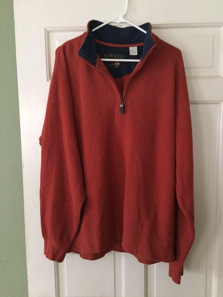 Sweater Men Orvis 1/4 Zipper Pullover