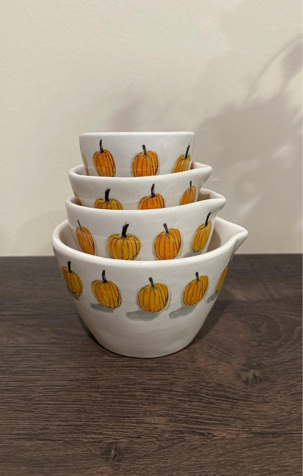 Rae Dunn Pumpkin Measuring Cups