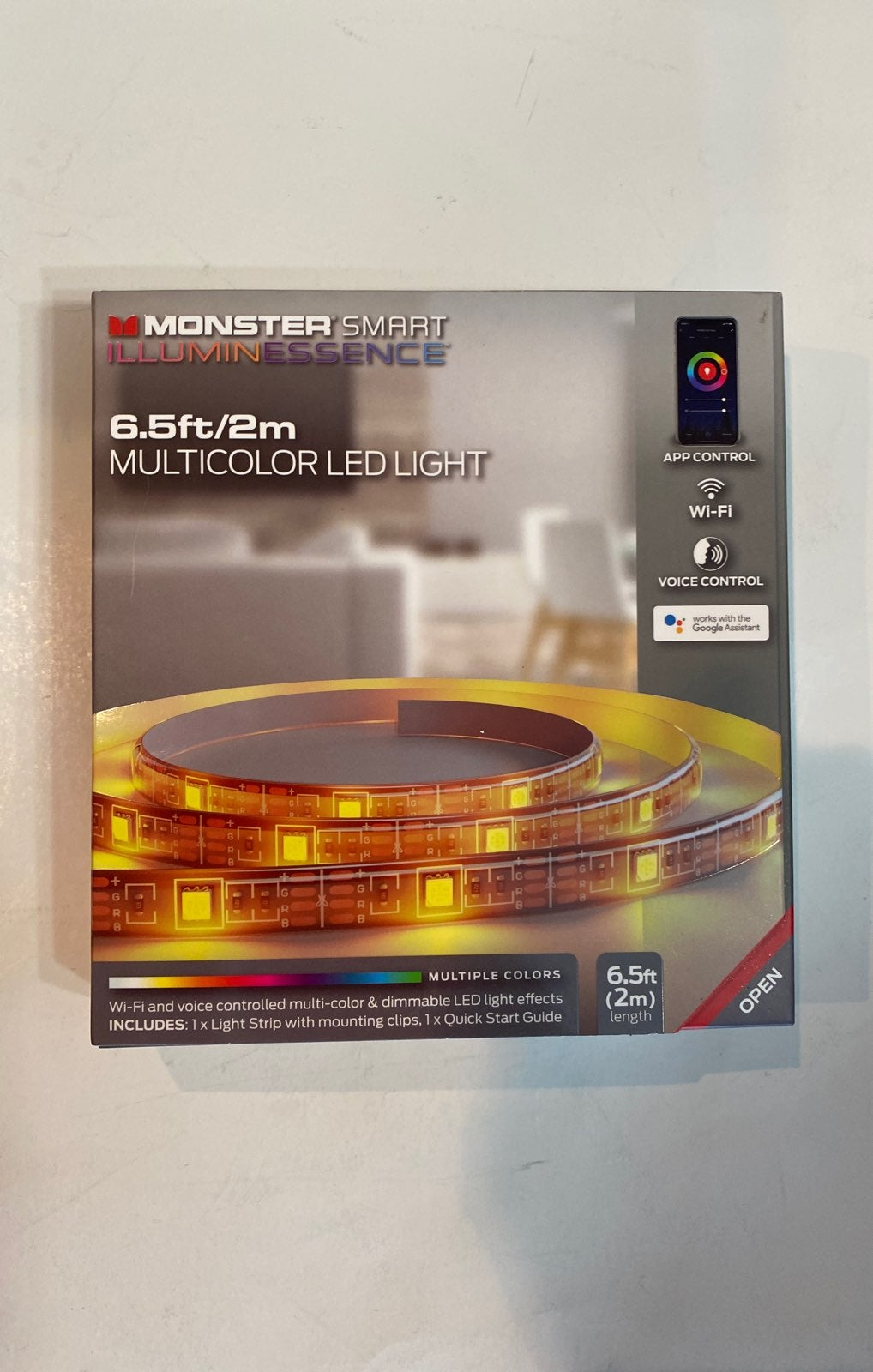Monster Smart Multicolor LED light 6.5ft