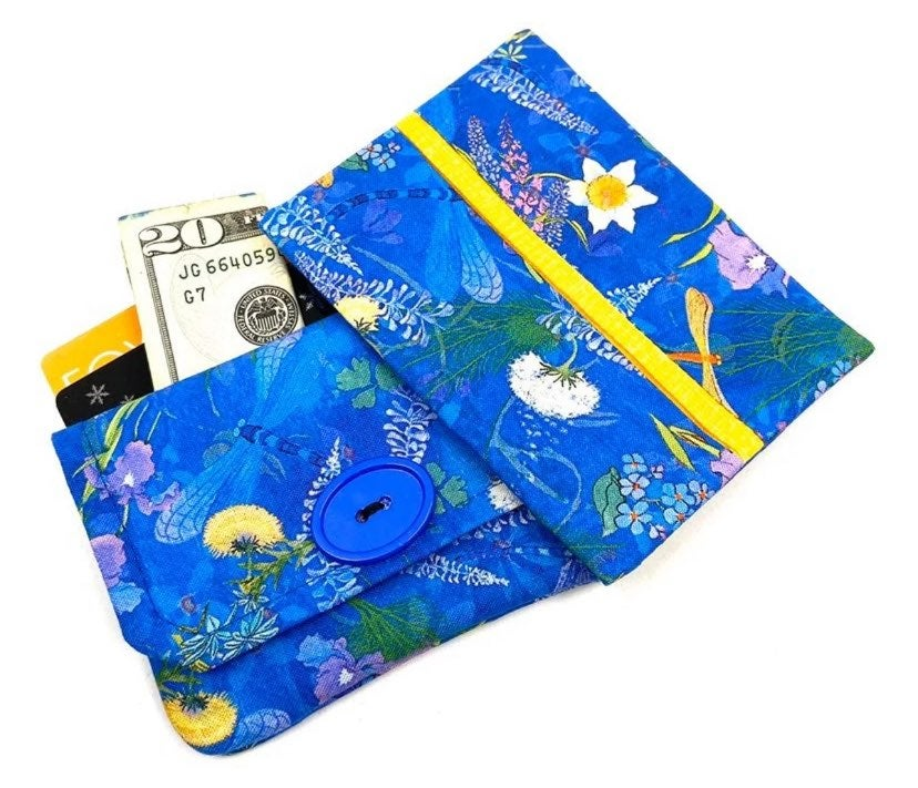 Dragonfly/Flower Fabric Wallet Gift Set
