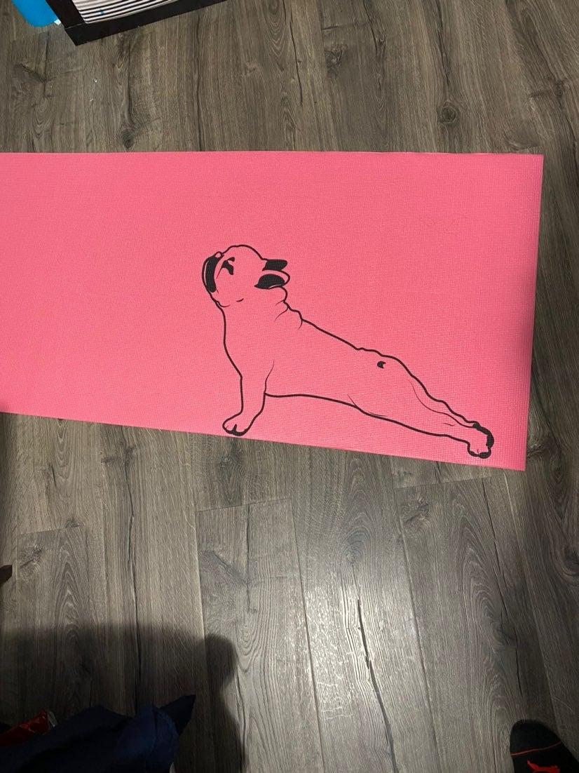 Pug yoga mat