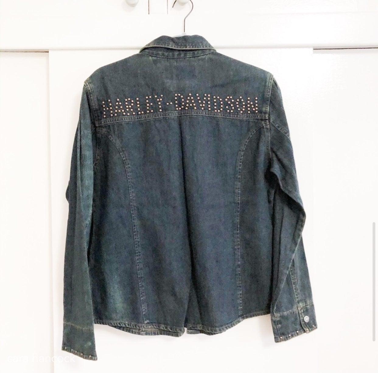 harley davidson denim shirt
