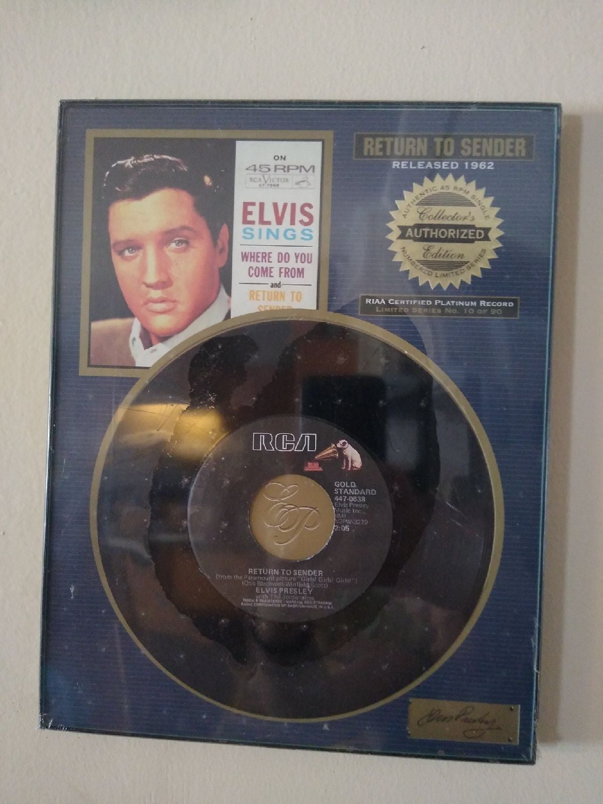 Elvis Presley, Return to Sender. RIAA Ce