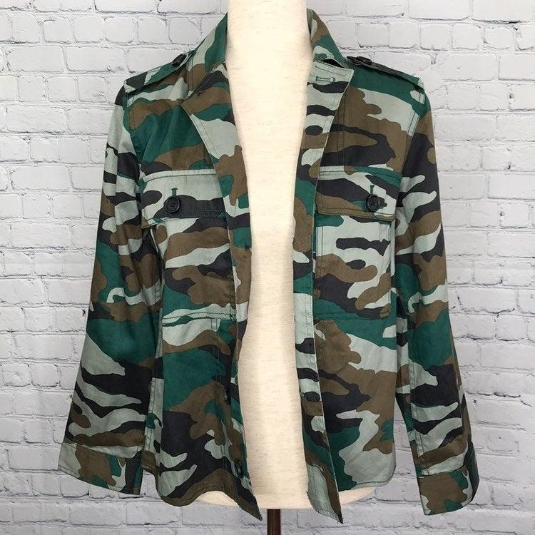 J. CREW Mercantile Camo Shirt Jacket