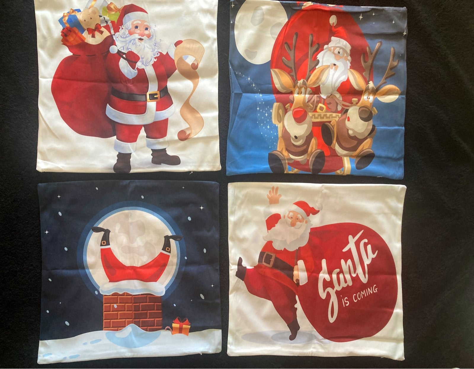 "4 18""x18"" Christmas Pillow Covers"