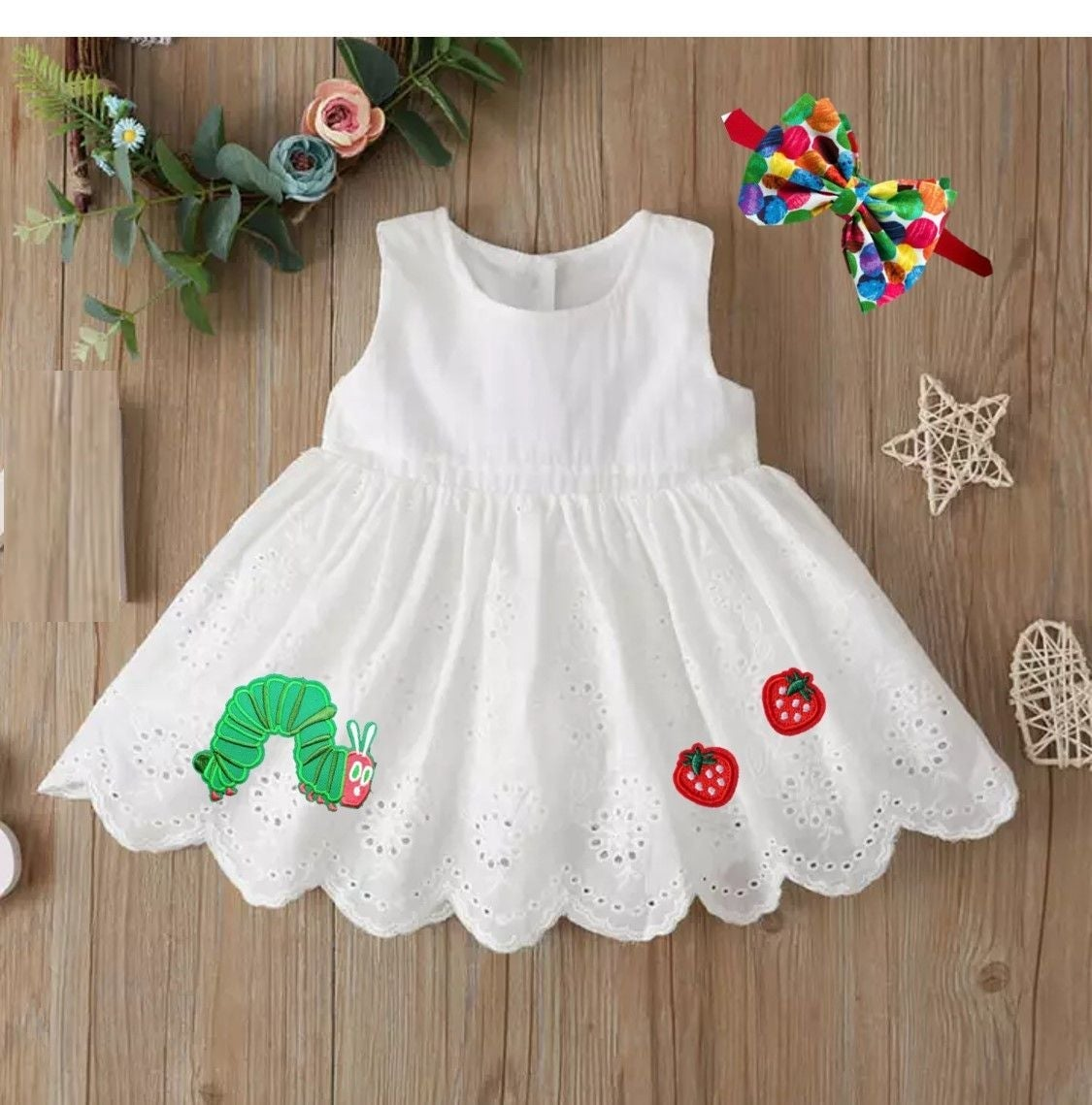 12-18 Hungry caterpillar Birthday dress