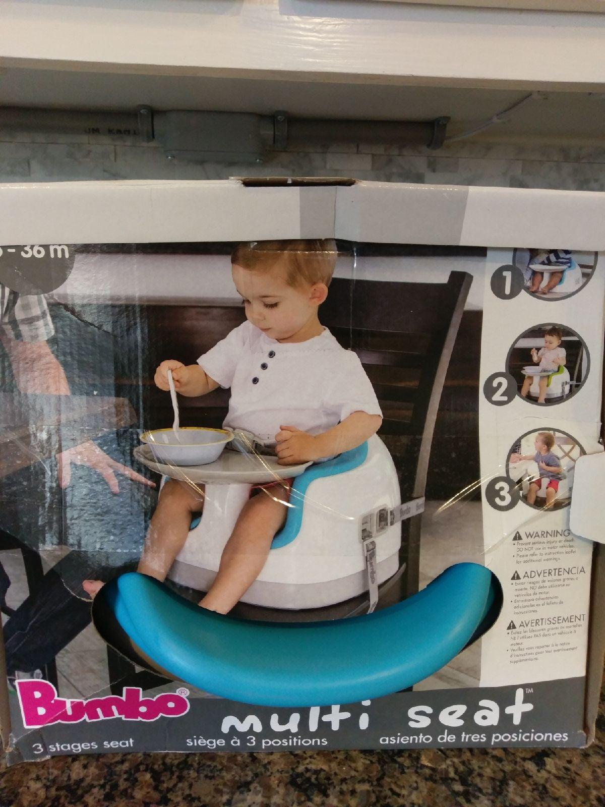 Bumbo Multi Seat Baby Blue Eat + TRAY