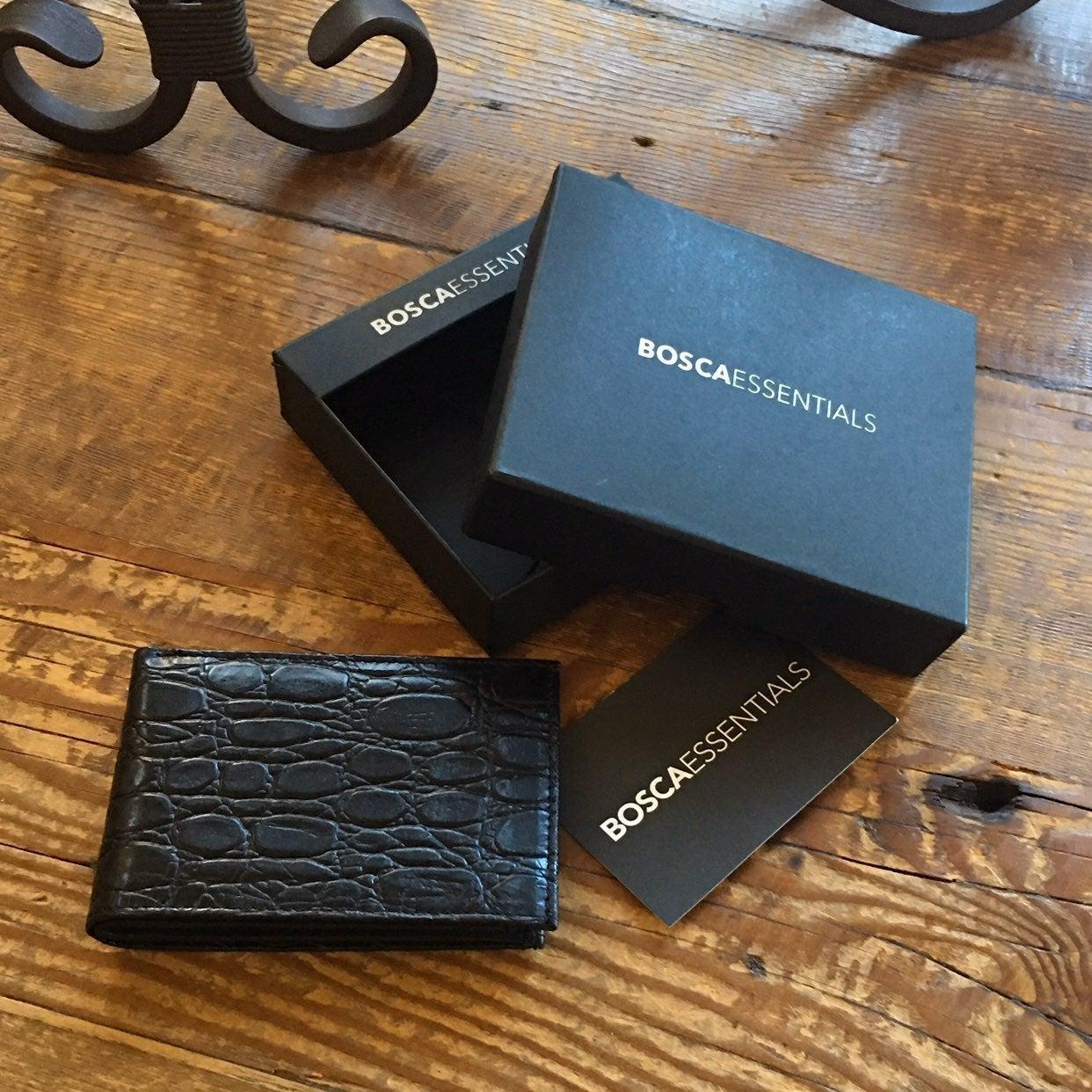 Bosca Wallet Bi-Fold Leather Black