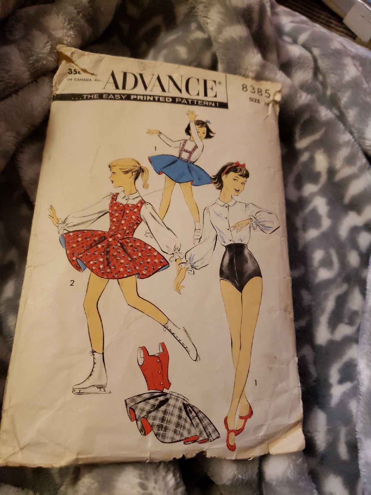 Vintage Advance skating pattern