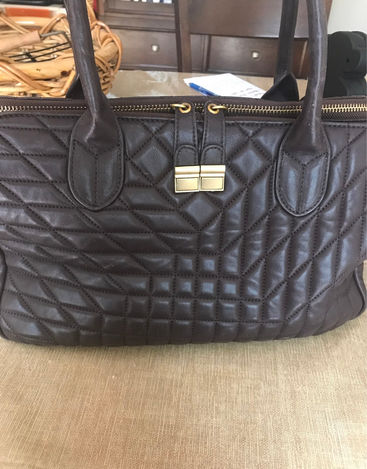 badgley mischka Brown bag