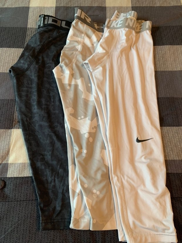 Nike and Under armour compression