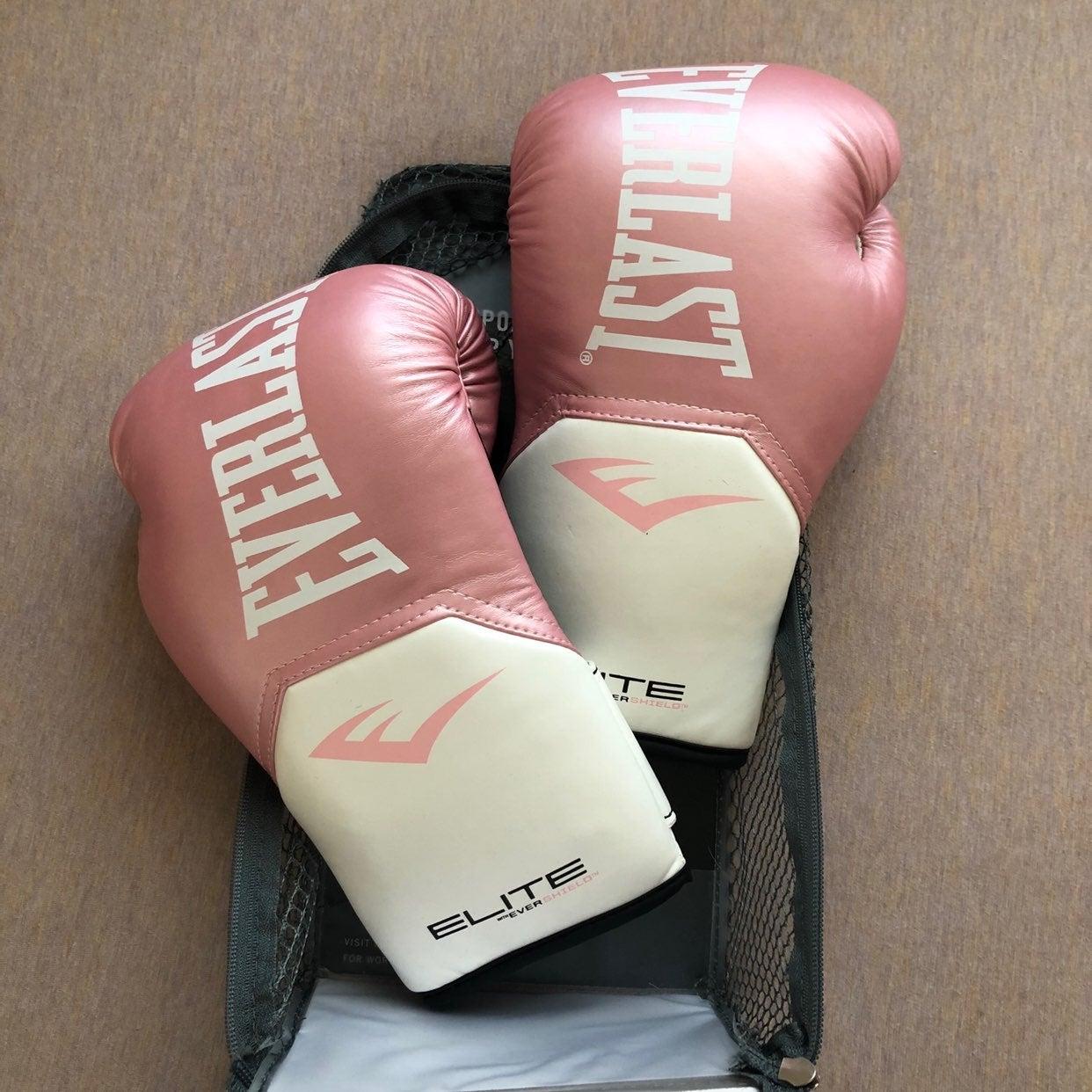 Everlast elite pink training gloves
