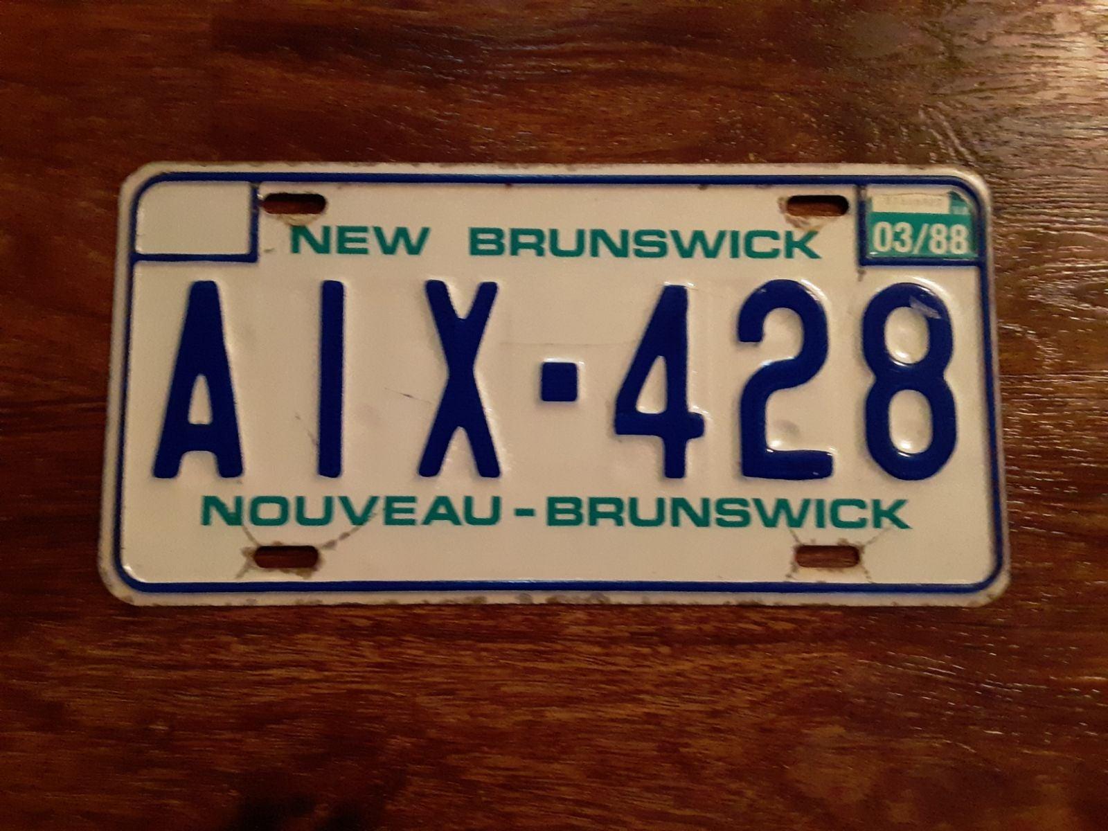 License Plate: New Brunswick, Canada
