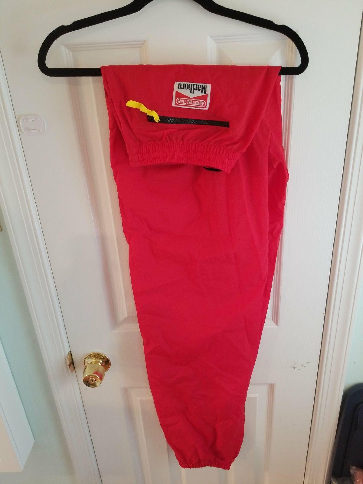 Nylon Red Marlboro pants size: Adult XL