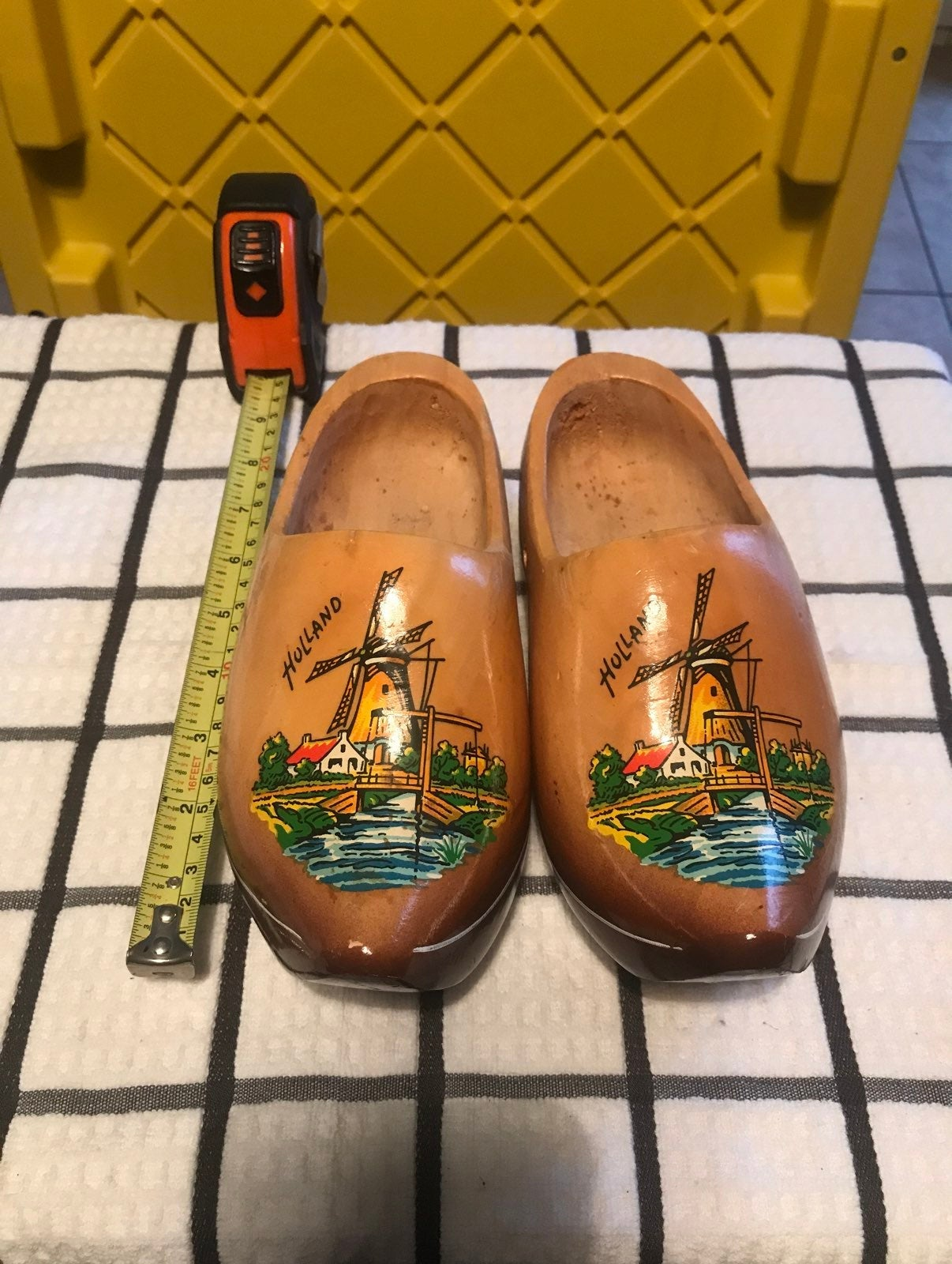 Pair of holland wood shoes
