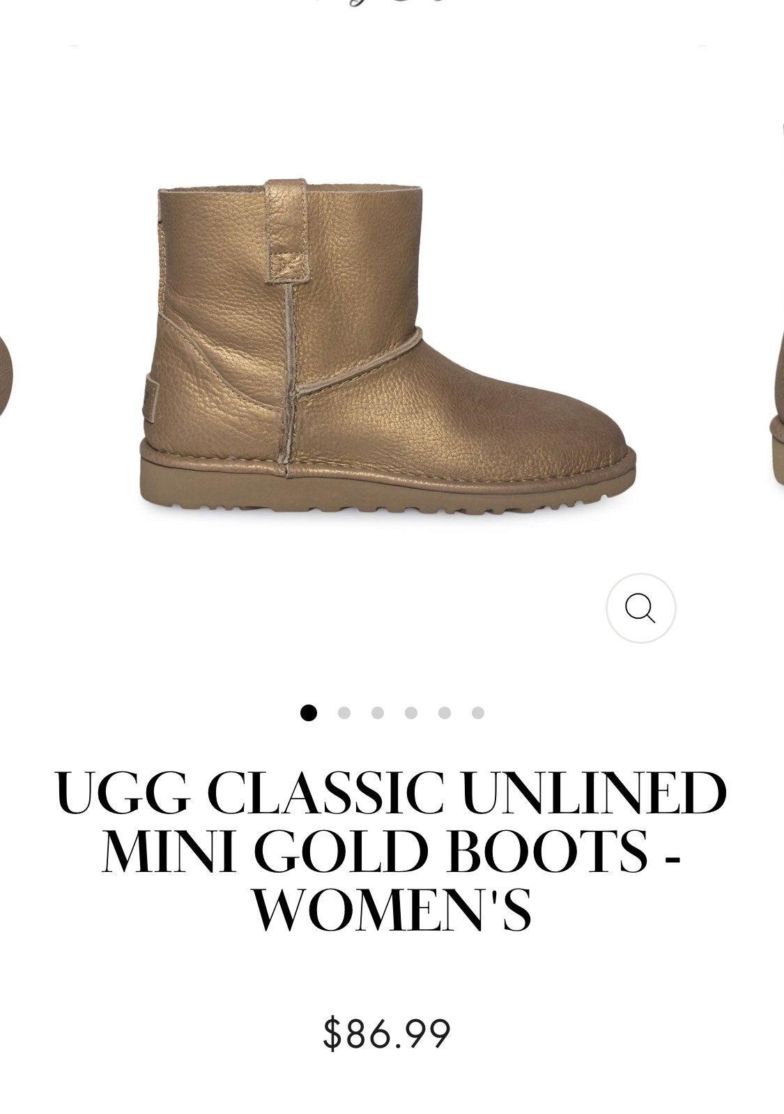 Ugg classic mini unlined gold 8