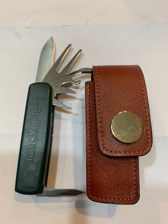 Brookstone Knife & Case✨Nice✨