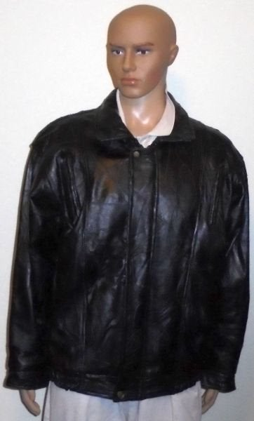 Men's Navarre Leather Jacket Patchwork