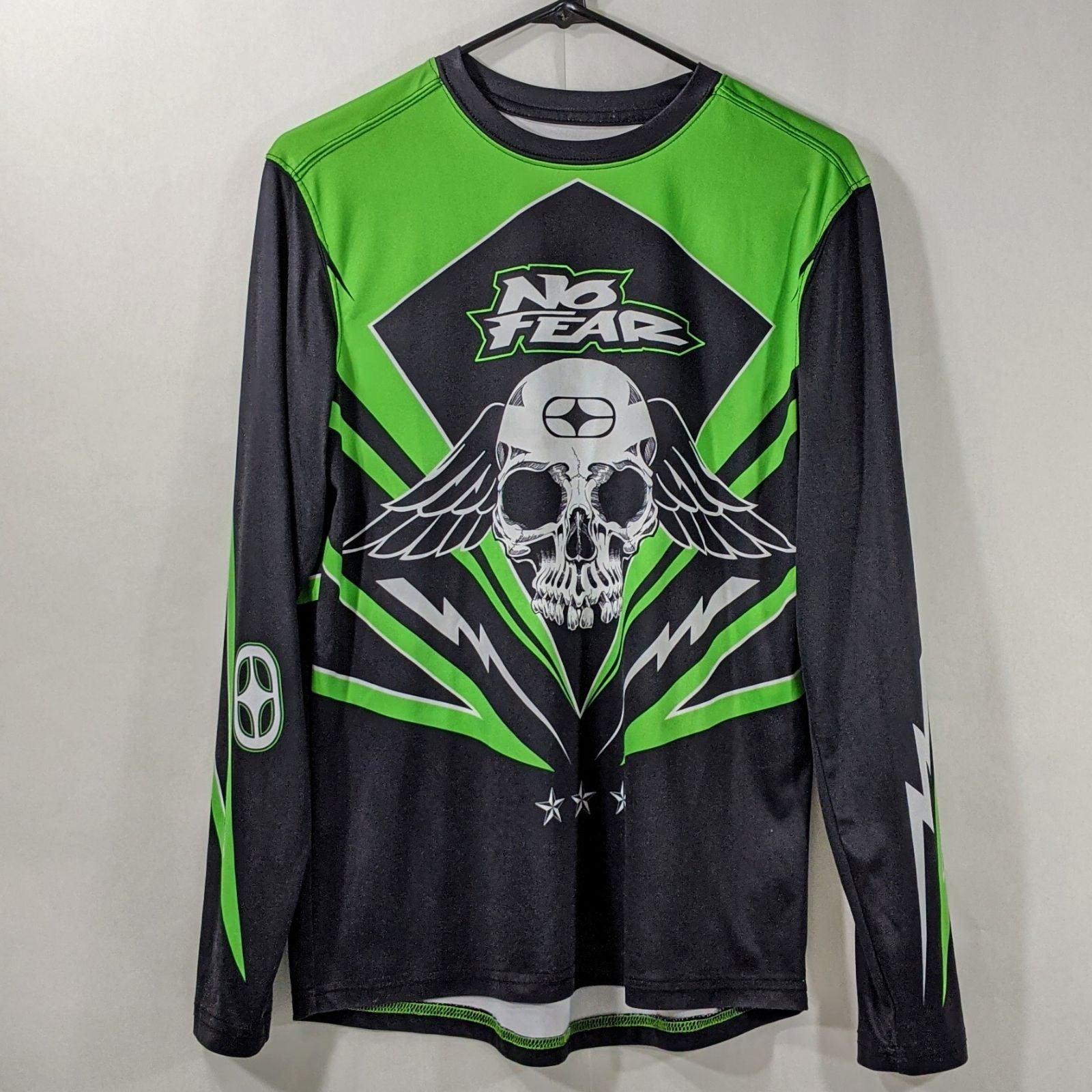 Vintage No Fear Motocross Jersey