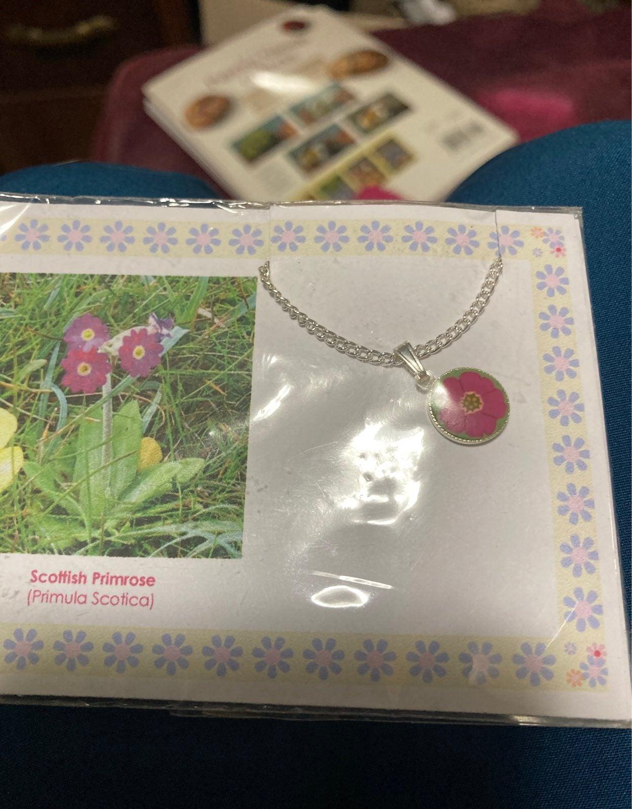 Scottish primeose necklace