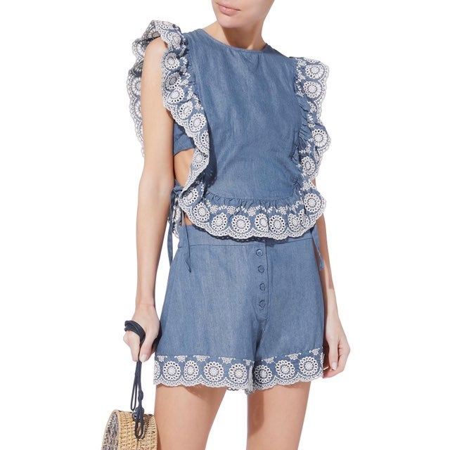 NWT Nightcap Clothing Denim Apron Top M