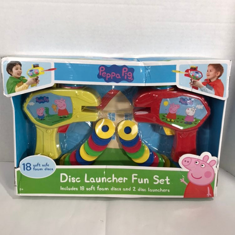 New Peppa Pig disc launcher fun set  Inc