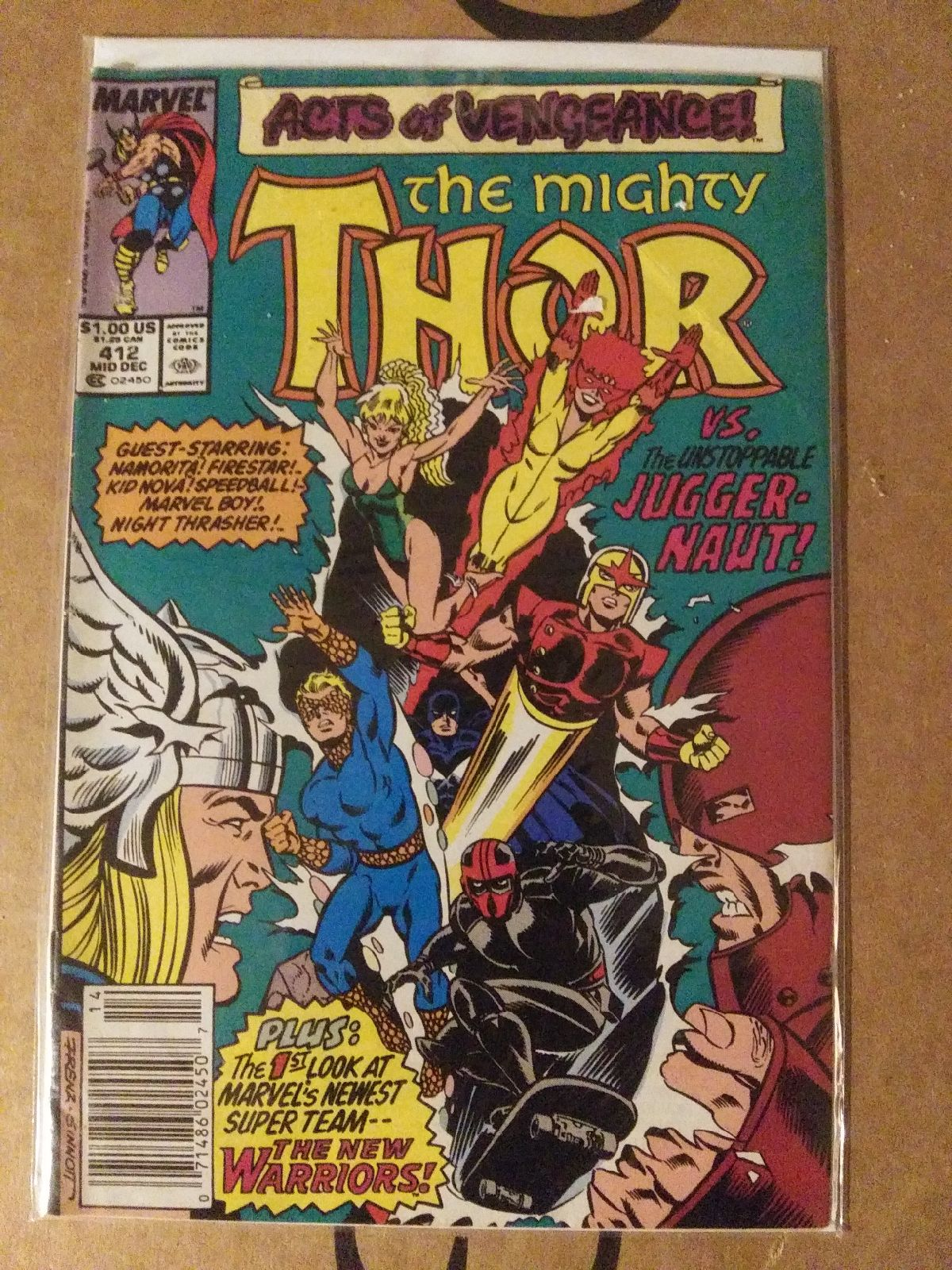 Rare.The MIGHTY ThOR #p412 ,Newstand/1st