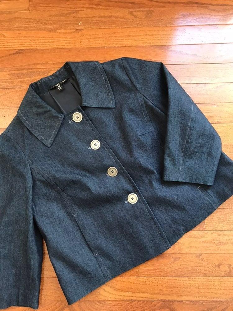 Nwot Briggs NY Denim Blazer Jacket