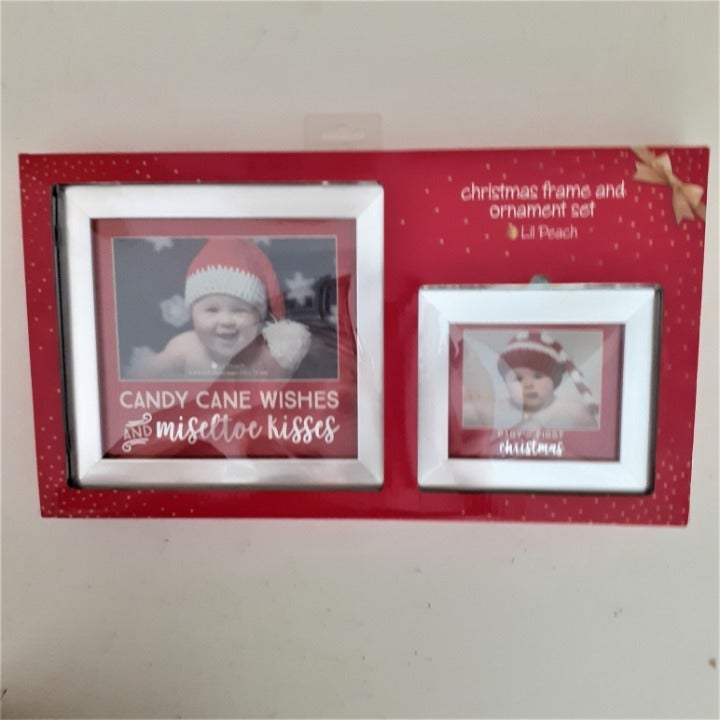 Lil Peach Holiday Frame and Ornament Set