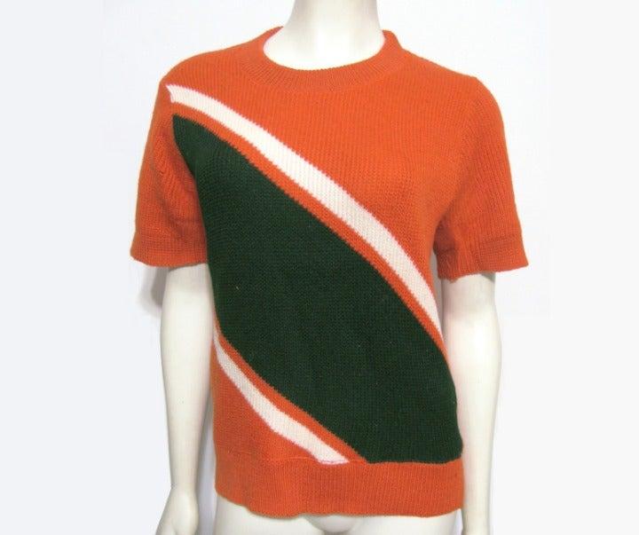 Vintage Wool Orange  T Shirt M Coleman