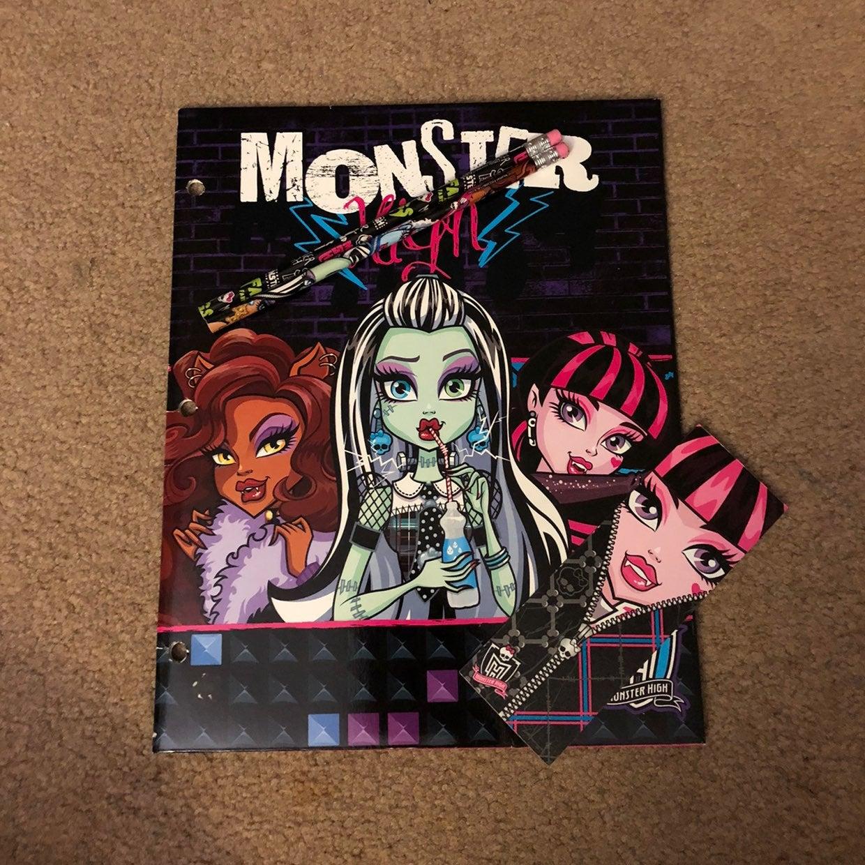 monster high stationary set