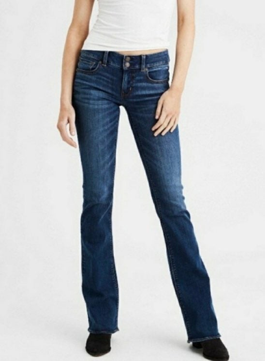 AEO Stretch Artist Flare Jeans 10 Short