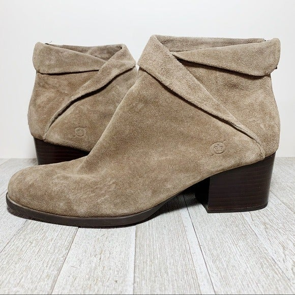 Born Taupe Suede Ankle Boots