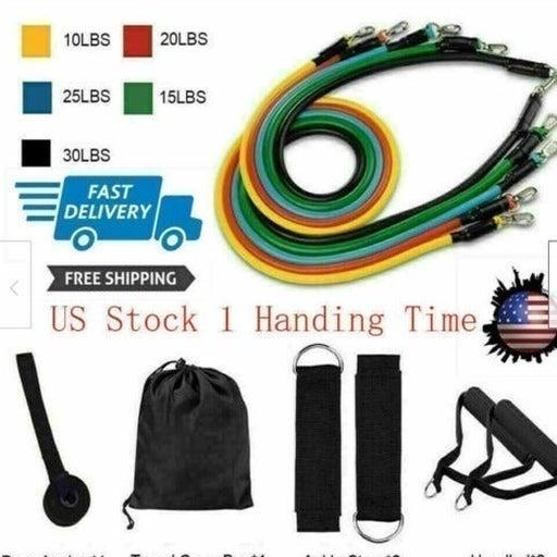 5 Colors 11 PCS  Resistance Band set