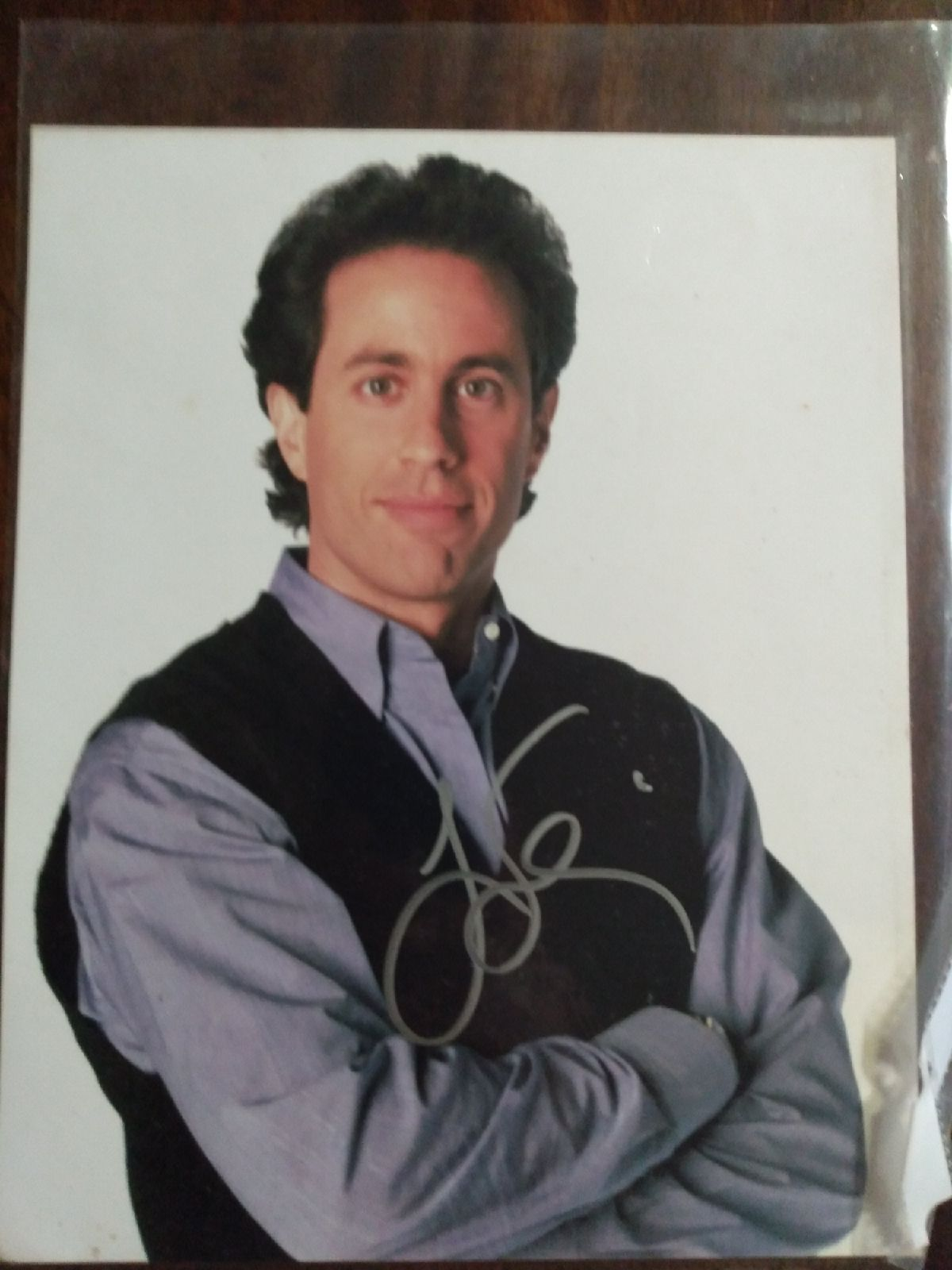 Jerry Seinfeld signed autograph picture