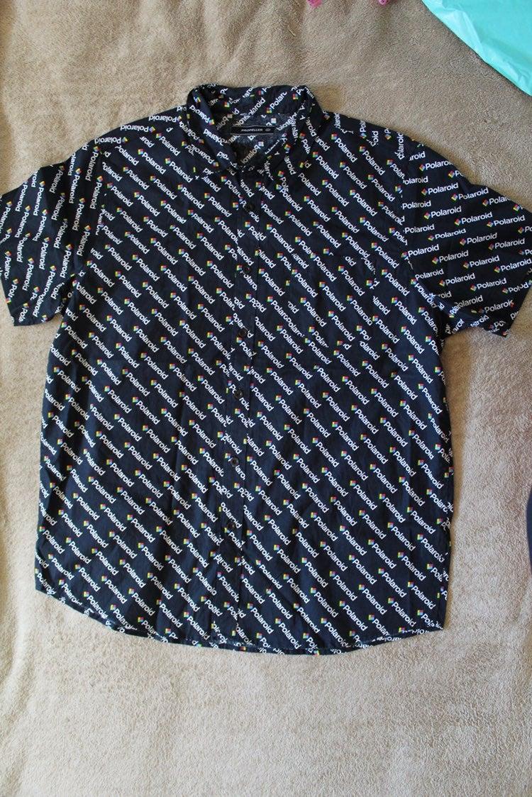 Polaroid Logo Button Down Shirt
