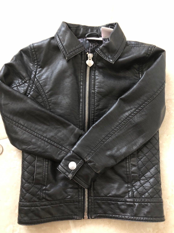 Toddler faux leather moto jacket