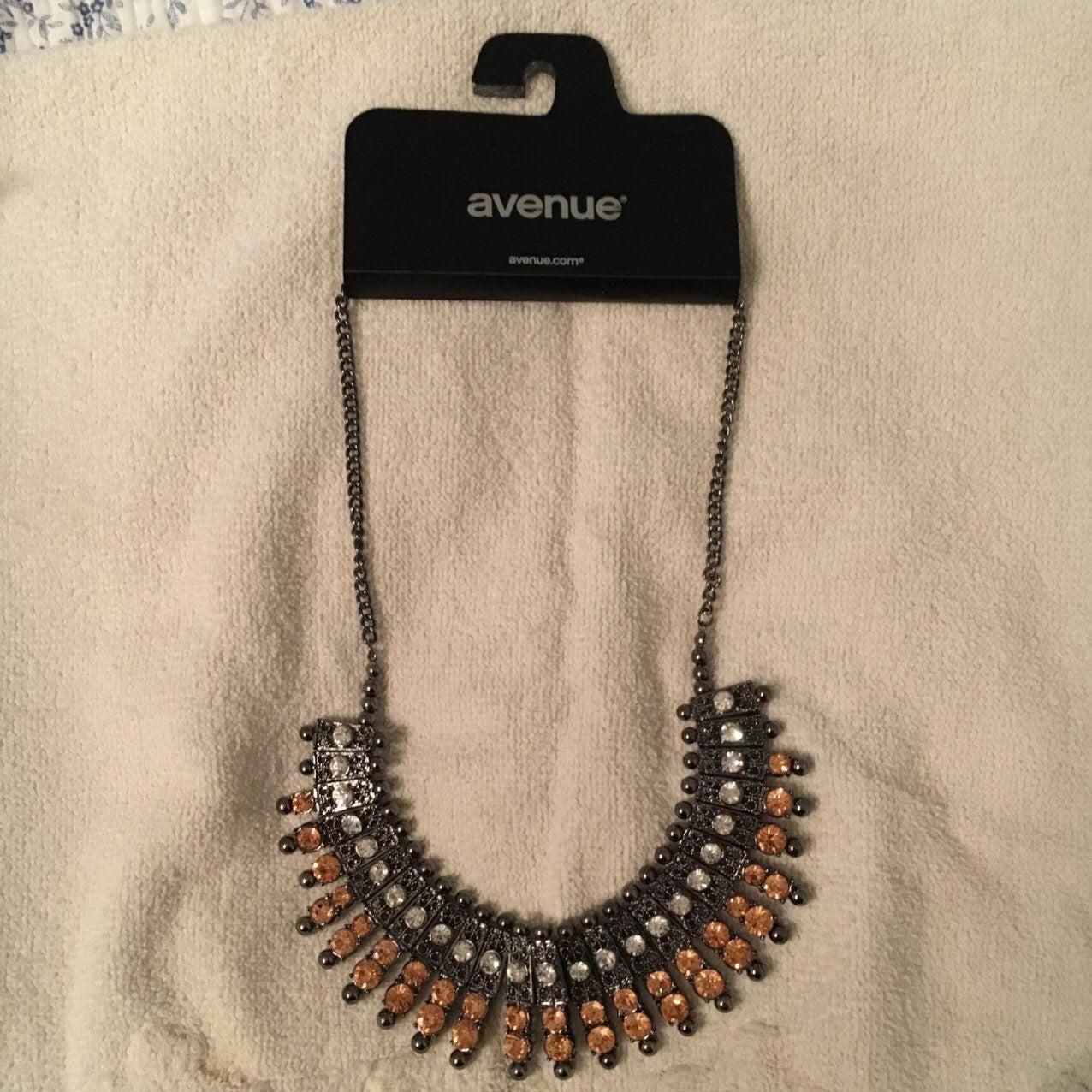 Metal Collar Necklace Unused