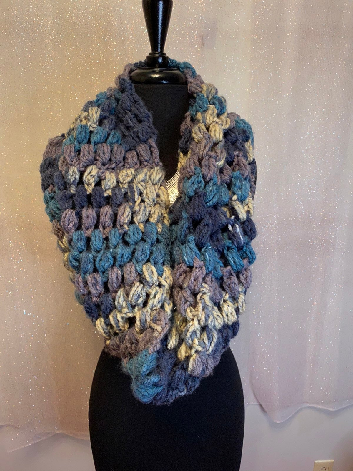 Knit Heavy Multicolor Infinity Scarf