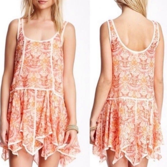 FREE PEOPLE Intimately Floral Sheer Slip Dress M